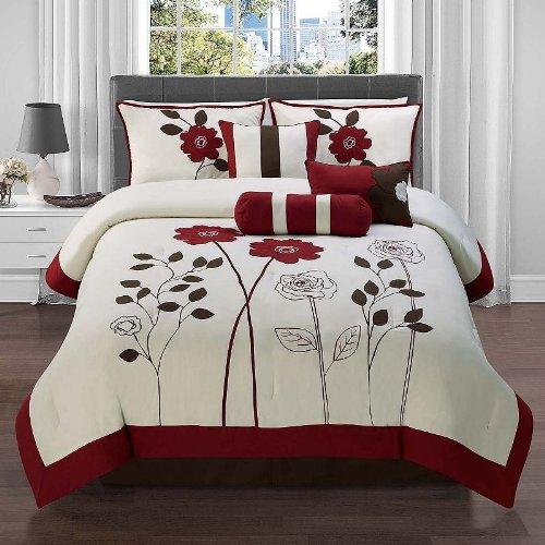 Victoria Classics 7-Piece Comforter Set Floral Design