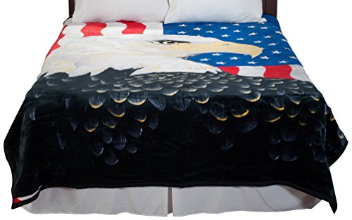 American Flag Eagle Design Blanket