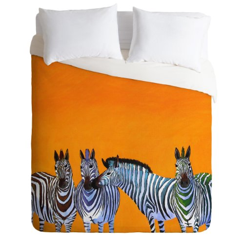 Cute Orange Zebra Duvet Cover