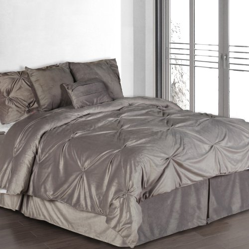 7-piece Queen Size SILVER Complete Comforter Set