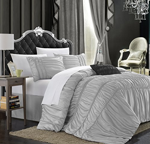 Light Silver 5-Piece Comforter Set