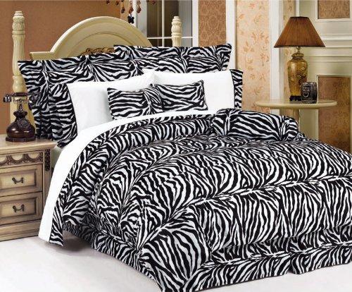 Affordable Zebra Bed in a Bag Comforter Set