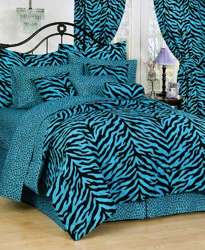 Blue Zebra Complete Bedding Set