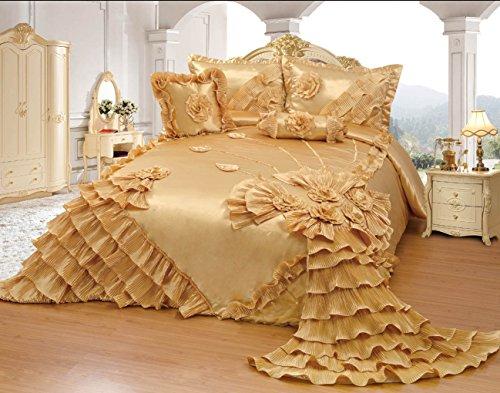 Beautiful 5-piece GOLD Wedding Bedding Set