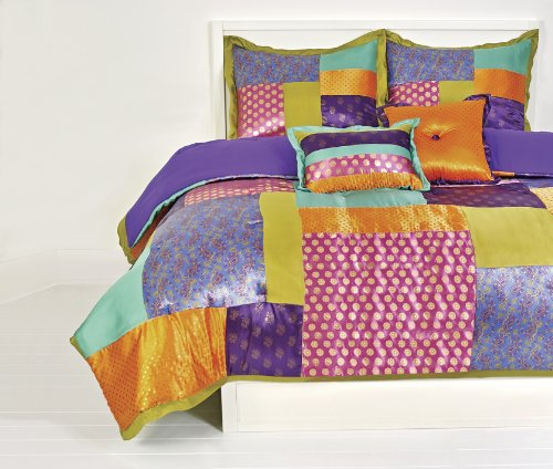Colorful Rainbow Satin Comforter Set
