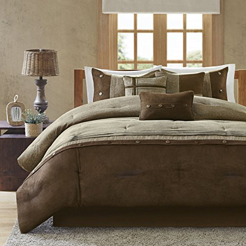 Elegant Coffee Brown 7-piece Bedding Comforter Set