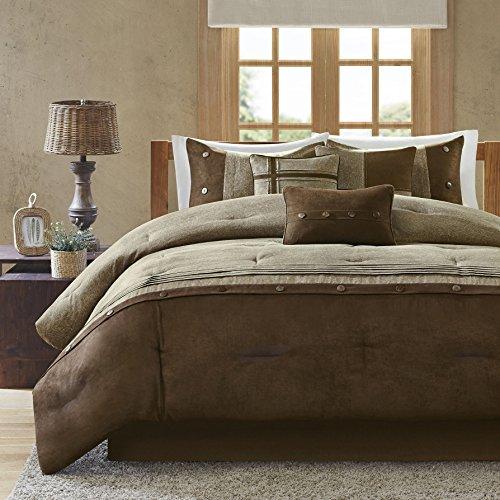 Elegant Coffee Brown 7-piece Bedding Comforter Set