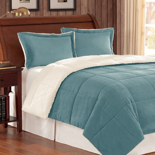 Cute Blue Color Allergy Free Comforter Set