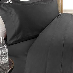 100% EGYPTIAN COTTON Solid Black Color Siberian Goose Down Allergy Free Comforter Set