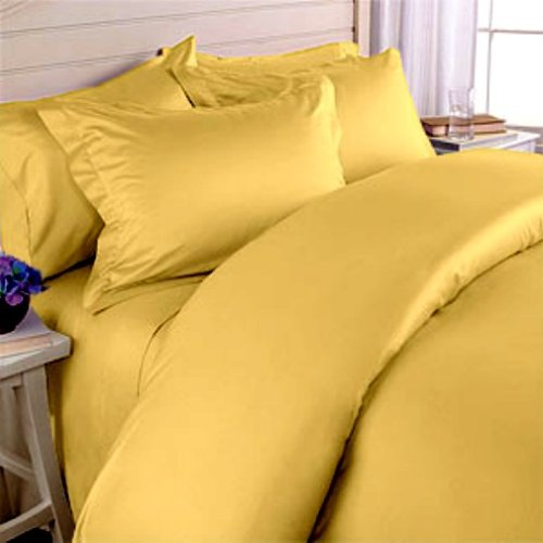 Solid Yellow Gold Egyptian Cotton Bedding Set