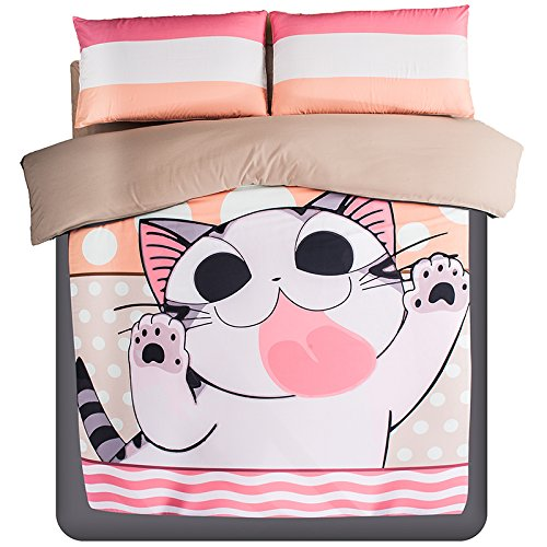Fun Japanese Anime Cartoon Cat Bedding Set