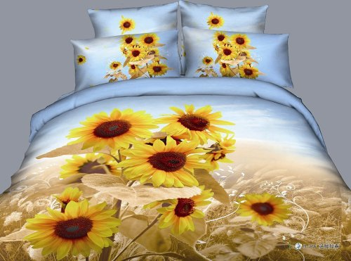 Stunning 3D Sunflowers Bedding Set