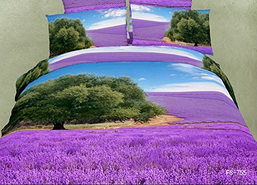 Beautiful Lavender Field 3D Duvet Cover Set