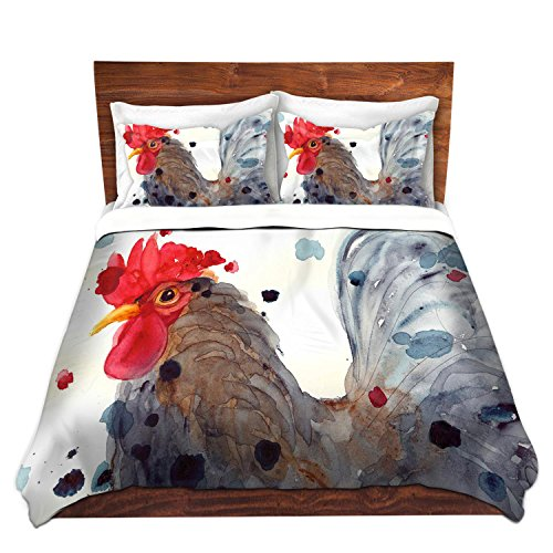 Unique Rooster Design Artistic Bedding