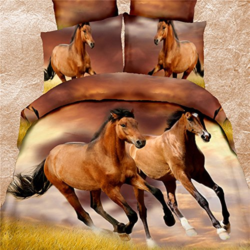 Realistic Horse Print Bedding Sets