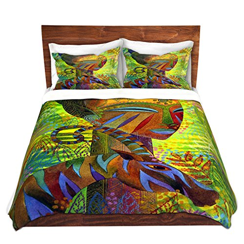 Artistic African Queen Design Colorful Bedding Set