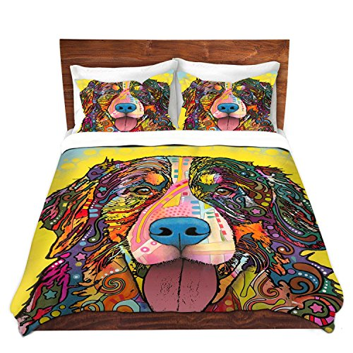 Artistic Mountain Dog Design Colorful Duvet Cover Set