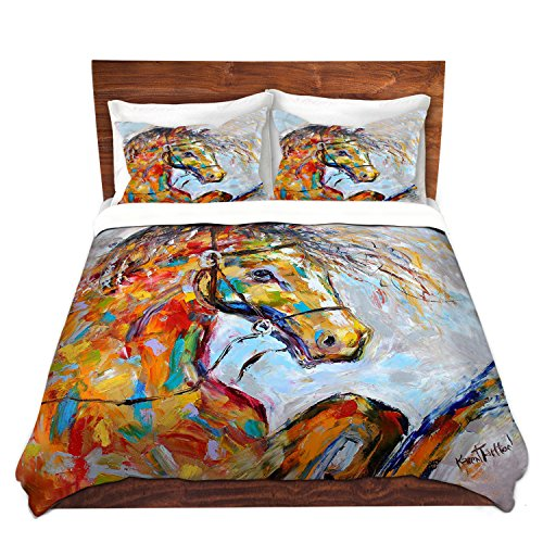 Artistic Brushed Twill Horse Portrait Unique Duvet Cover Set