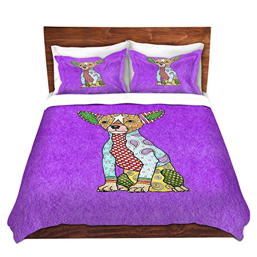 Chihuahua Dog Purple Bedding Set