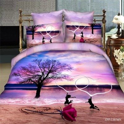 Purple Beach Bedding Duvet Cover Set