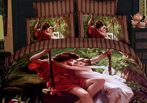 Romantic Swing 4-Piece Cotton Bedding Set