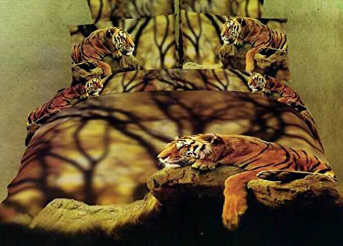 Unique Tiger Resting 3D Bedding Set