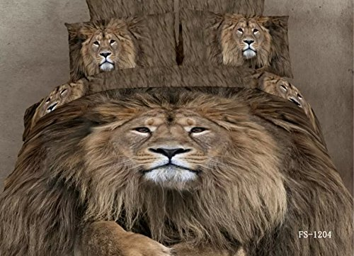 10 Gorgeous Mighty Lion Print Bedding Sets