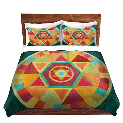 Brushed Twill Mandala Design Duvet Cover Set