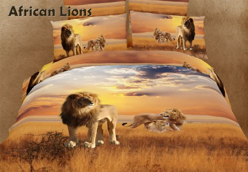 Stunning African Lions 6 Pieces Bedding Set