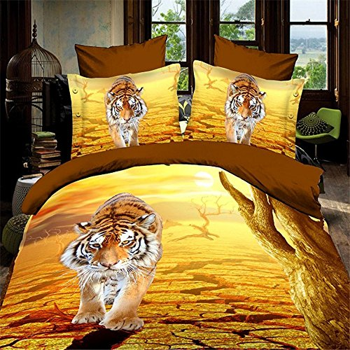 Walking Tiger 3D Oil Painting Bedding Set