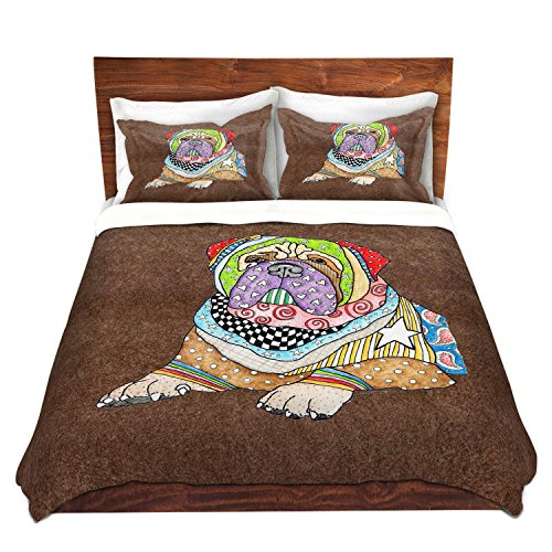 Bull Mastiff Dog Brown Bedding Set