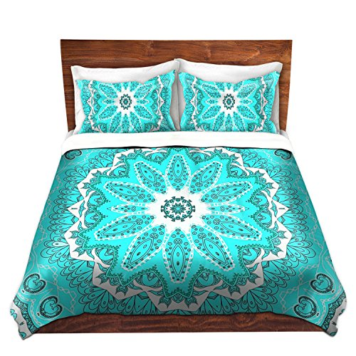 Cute Mint Color Mandala Print Bedding Set