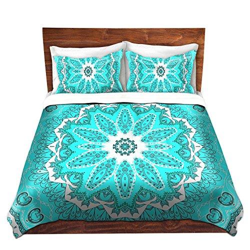 Cute Mint Color Mandala Print Bedding Set