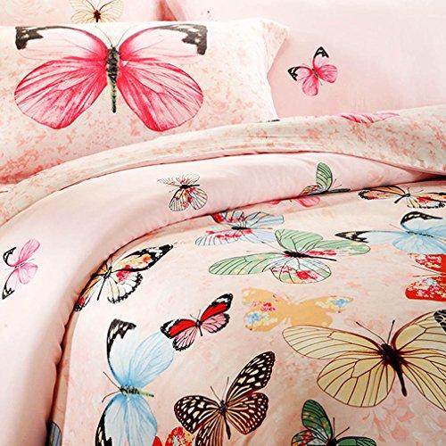 Dancing Butterflies Light Pink Bedding Set