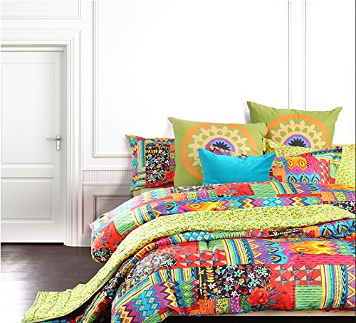 Colorful Bohemian Style Bedding Set