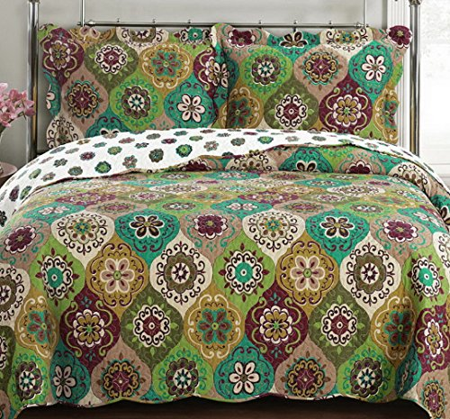 Cute Mandala Pattern Reversible Quilt Set