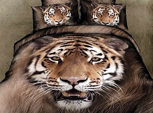 Realistic 3D Tiger Bedding Sets
