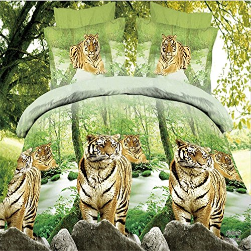 Mighty Tigers in the Jungle Bedding Set