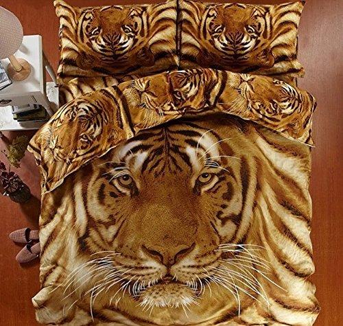 Brown Color 3D Tiger Bedding Set