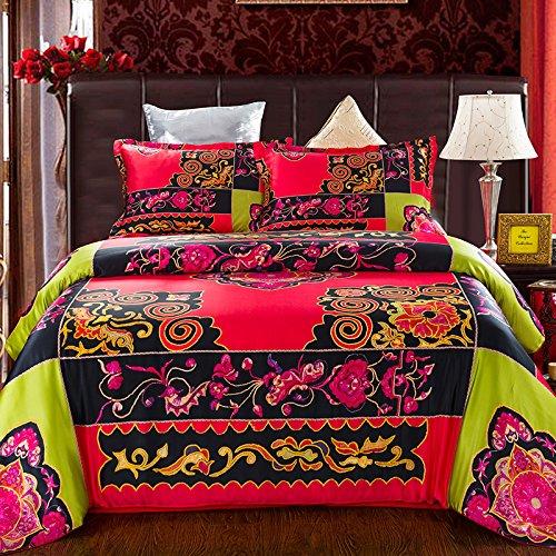 Luxurious Silk Boho Bedding Set