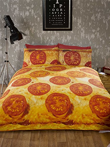 CHEESE AND TOMATO PIZZA Full Size Bedding Set