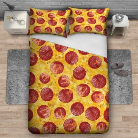 Pepperoni Pizza Bedding Set