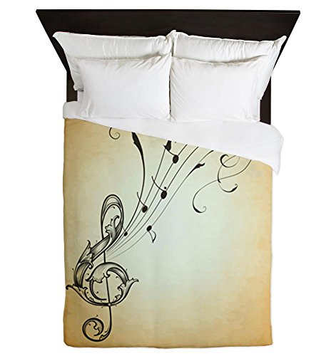 Musician Treble Clef Music Notes Queen Size Duvet Cover