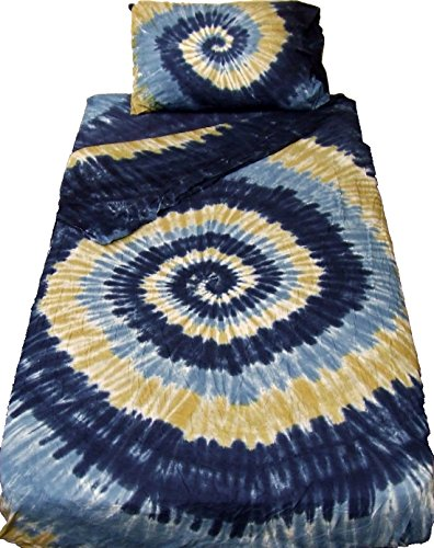 King Size Waterfall Spiral Tie Dye Bedding