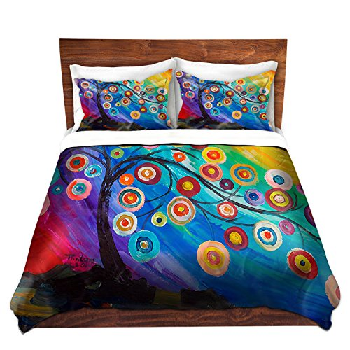 Colorful Duvet Cover Brushed Twill Tree Design