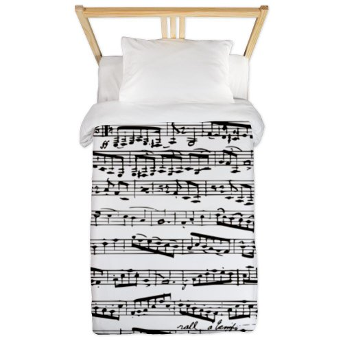 Music Notes Design Twin Duvet Cover