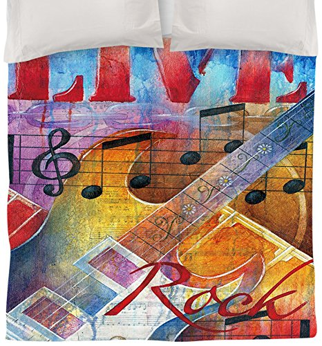 Colorful Live to Rock Duvet Cover