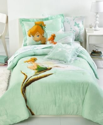 Tinkerbell Tink Watercolor Full Size Comforter Set
