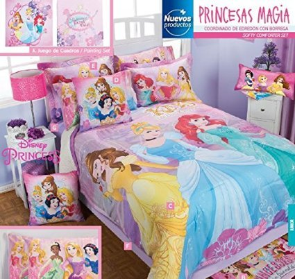 Cute Disney Princesses 10 Piece Comforter Set. Cute Disney Comforters and Bedding Sets for Boys and Girls