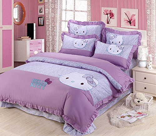 Cute Hello Kitty Queen Size Duvet Cover Set